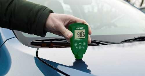 کارشناسی خودرو با دستگاه ضخامت سنج دیجیتال التراسونیک